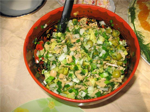 салат из маринованных опят рецепт